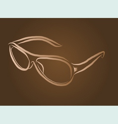 Eyeglasses vector