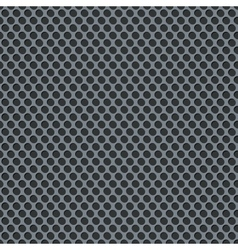 Silver metallic grid background pattern vector