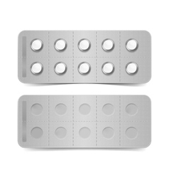 Pack of pills isolated on white background vector