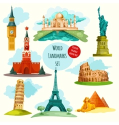 World landmarks set vector