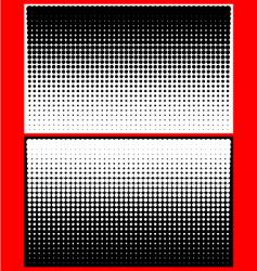 yin yang halftone dots vector image