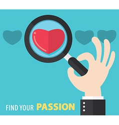 Find your passion background vector