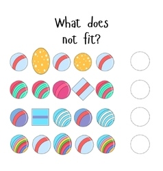 Educational game for children what does not fit vector