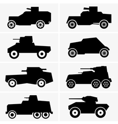 Armored cars vector