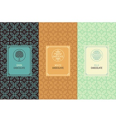 Chocolate packaging vector