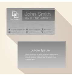 Simple brushed metal gray business card design vector