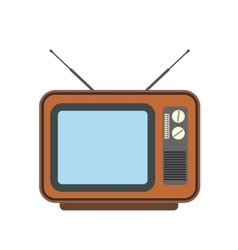 Retro tv flat icon vector