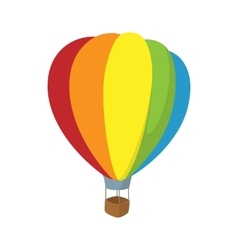 Colorful air balloon icon cartoon style vector