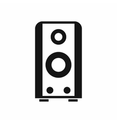 Black sound speaker icon simple style vector