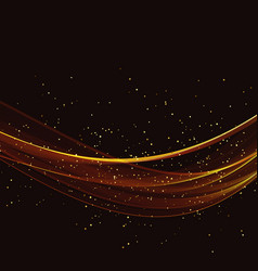 abstract gold luxury wave background vector image vector image