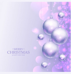 Amazing merry christmas greeting background with vector
