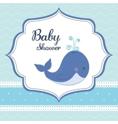 Baby shower whale pastel design graphic vector