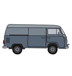 Classic gray minivan vector