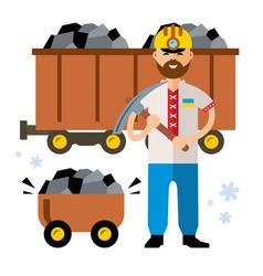 coal industry of ukraine flat style vector image