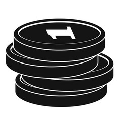 concept coin icon simple black style vector image vector image