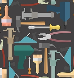 Construction tools seamless Pattern background vector image
