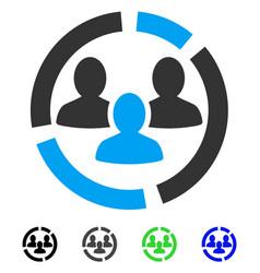 Demography diagram flat icon vector