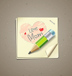 Happy Mothers Day paper note vector image vector image