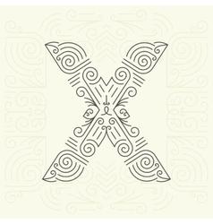 Letter X Golden Monogram Design element vector image vector image