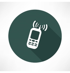 mobile phone calling icon vector image