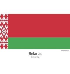 National flag of belarus with correct proportions vector