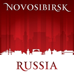 Novosibirsk Russia city skyline silhouette vector image vector image