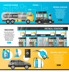 Petrol station banners vector