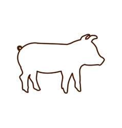 pig farm animal isolated icon vector image vector image