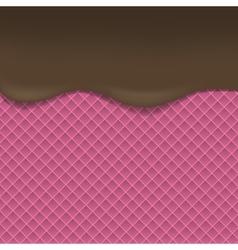Pink wafer background vector
