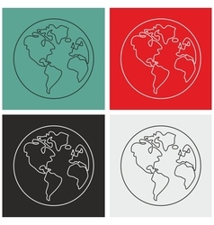 Planet Earth sign set isolated vector image vector image