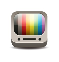 Rainbow colored tv set vector