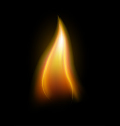 realistic candle flame element vector image