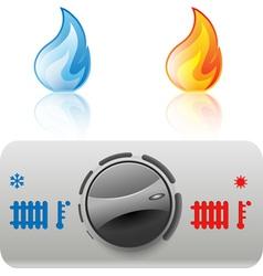 Regulator boiler icon vector