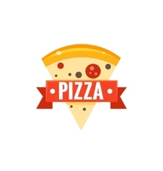 Restaurant Logo With Pizza Slice vector image vector image