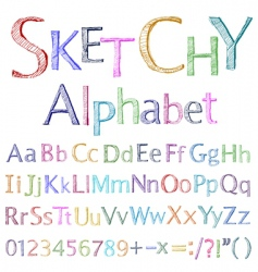 Sketchy alphabet vector