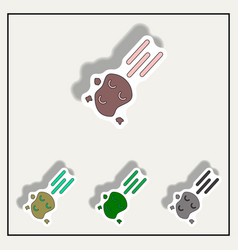 Space meteorite collection vector