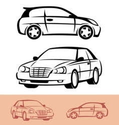 styled car icons vector image