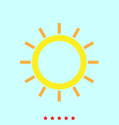 sun it is icon vector image vector image