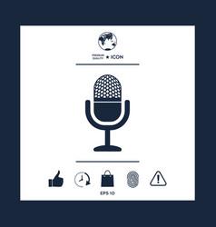 vintage microphone icon vector image
