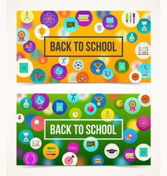 welcome back to school - two banners vector image