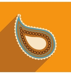 Modern flat icon with long shadow indian cucumber vector