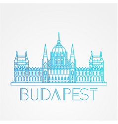 Hungarian parliament building the symbol of vector