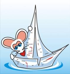 souris bateau vector image