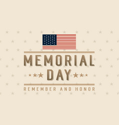 Collection banner of memorial day vector