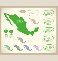 Bio map - mexico mx vector