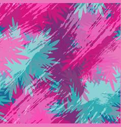 Tropical summer leaf palm tree floral pattern art vector