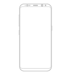 Smartphone with frameless edge display vector