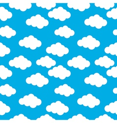 Cloud seamless pattern vector