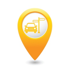 Direct car map pointer yellow vector