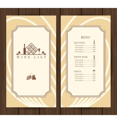 Wine menu template vector